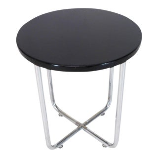 1970s Art Deco Josef Hofmann Bauhaus Round Side Occasional Table For Sale