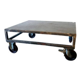 1940s Industrial Cocktail Table For Sale