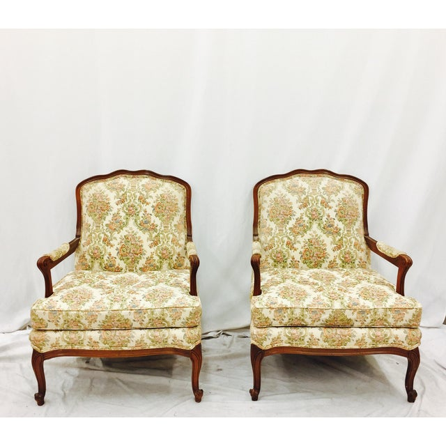 Vintage French Style Arm Chairs - A Pair - Image 2 of 11