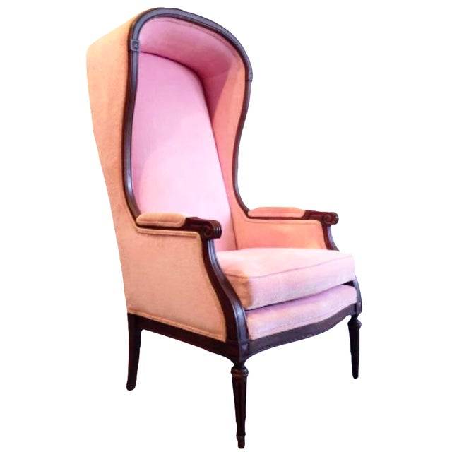 Vintage Pink French Canopy Chair - Image 1 of 7