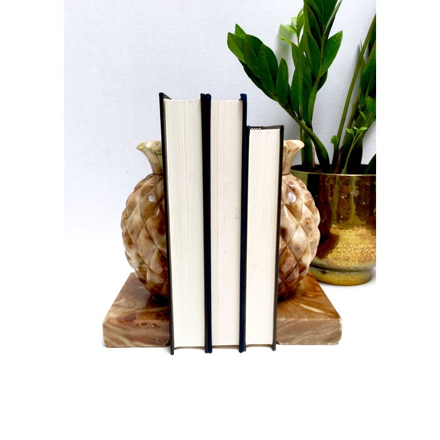 Onyx Stone Pineapple Bookends - Pair - Image 10 of 10