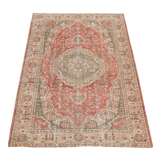 "Vintage Hand Knotted Rug - 8'10""x5'4"""