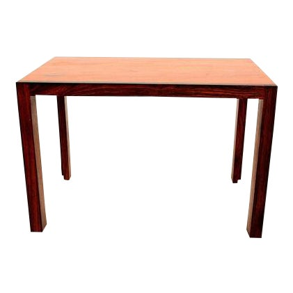 Mid Century Danish Modern Solid Rosewood & Mahogany Side Table For Sale
