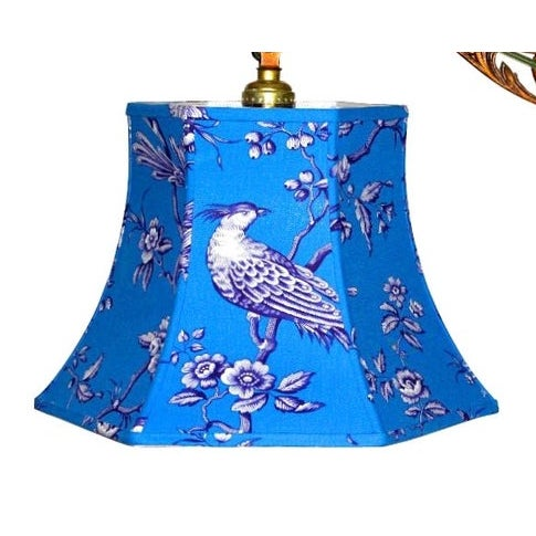 2010s Blue Bird Uno Bridge Lamp Shade For Sale - Image 5 of 5