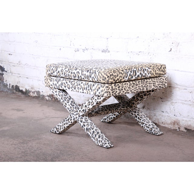 Patrick Frey X-Base Leopard Stool or Ottoman, Paris For Sale In South Bend - Image 6 of 13