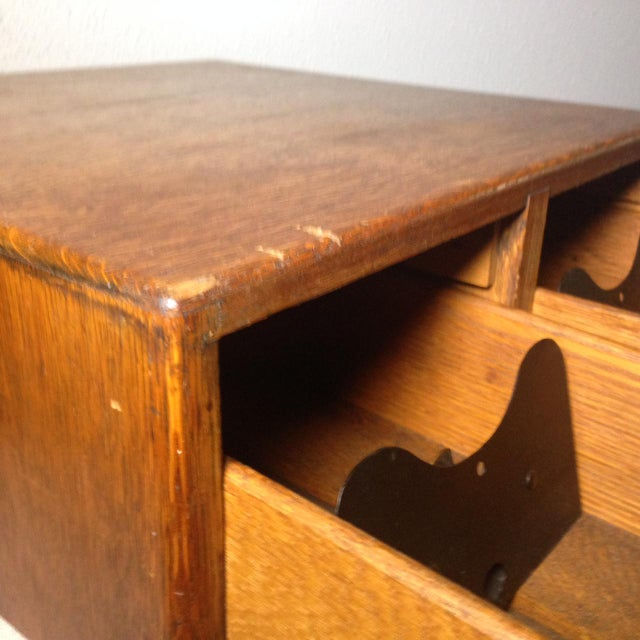 Early Twentieth Century Wooden Library Card Catalog For Sale In Houston - Image 6 of 13