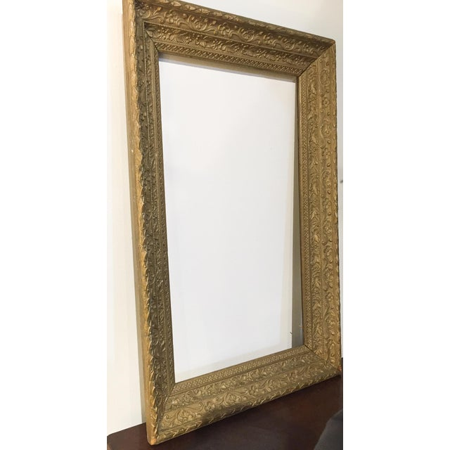 Large Antique Gilt Wood Frame - Image 2 of 8
