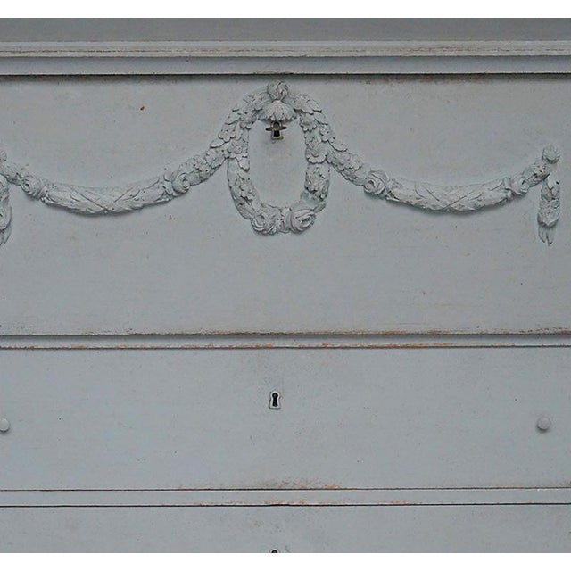 Antique Swedish Chest of Drawers With Classical Swags - Image 6 of 8