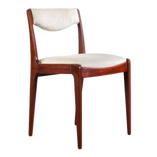 Rosewood Desk Chair in Original Cream Knit made in Sweden For Sale