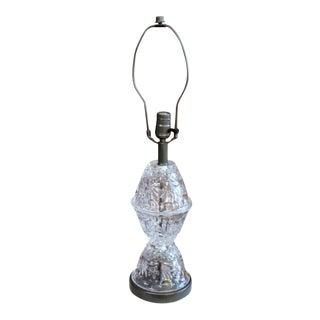 Vintage Cut Glass Lamp