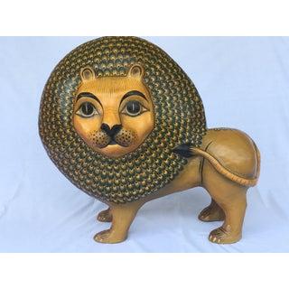 Sermel Folk Art Paper Mache Lion Preview