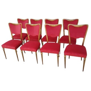1960s Vintage Osvaldo Borsani Dining Room Chairs - Set of 8 For Sale