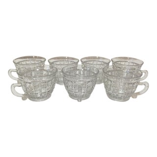 Mid 20th Century Heisey Victorian Pattern Punch Cups - Set of 7 For Sale