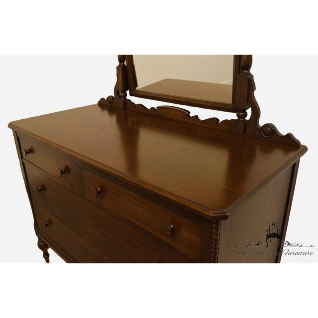 """1960s 1960s Traditional Sligh Furniture Co. Grand RapidsMahogany 48"""" Dresser With Mirror For Sale - Image 5 of 13"""