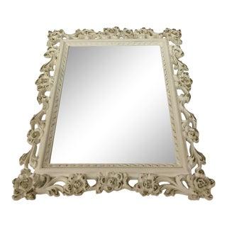1950s Rococo Syroco Vanity Mirror For Sale
