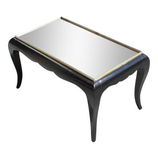 1940s French Art Deco Ebonized Coffee Table For Sale