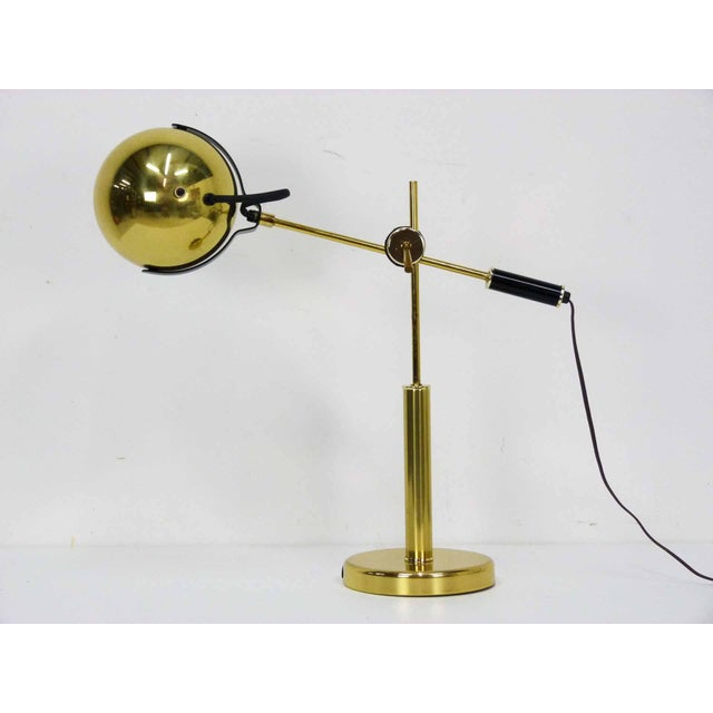 Brass Orb Ball Articulating Desk Lamp - Image 4 of 9