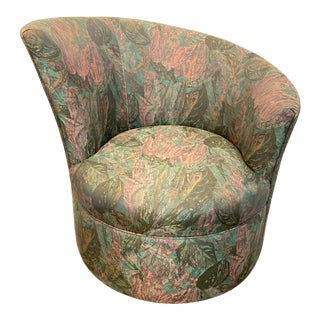 Swivel Chair in the Style of Vladimir Kagan For Sale