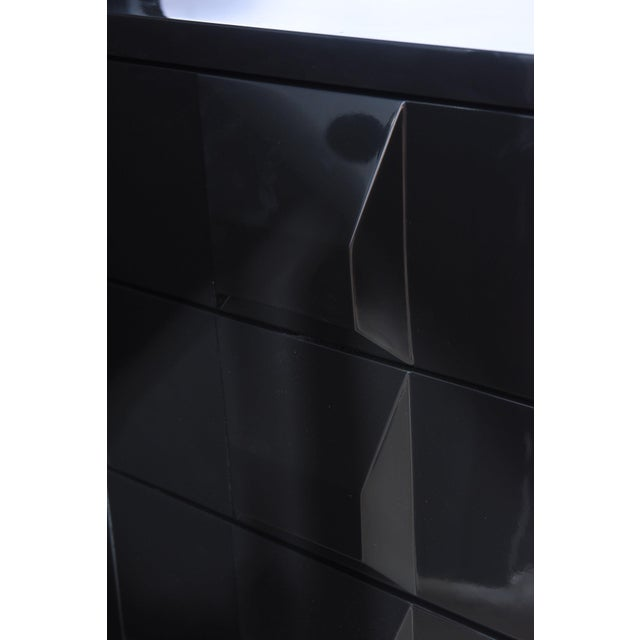 Wood Italian Modern Black Lacquered Nightstands, Poltronova, 1960's For Sale - Image 7 of 10