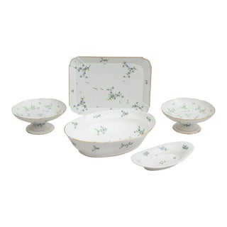 Niderviller French Porcelain Dinnerware - Set of 5
