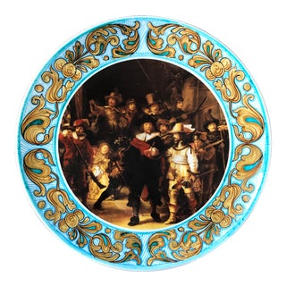 "Rembrandt ""The Night Watch"" Italian Majolica Wall Charger For Sale"