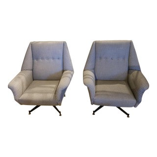 Gingham Chairs - a Pair For Sale