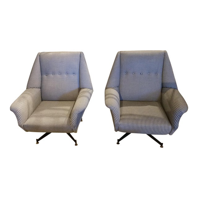Gingham Chairs - a Pair - Image 1 of 4