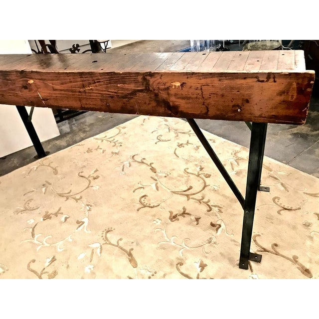 20th Century Industrial Workbench or Console For Sale - Image 9 of 12
