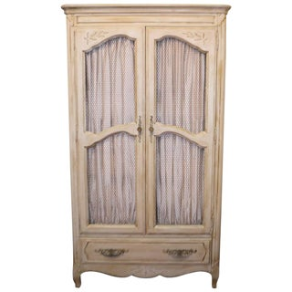 Louis XV Style French Painted Armoire For Sale