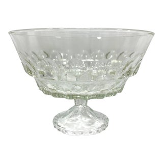 Vintage Glass Trifle Dish For Sale