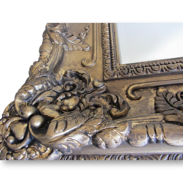 Hand Painted Burnished Gold Traditional Mirror - Image 3 of 7