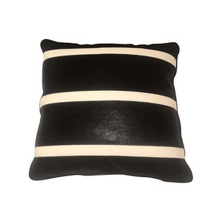 Scortched Linen Striped Pillow