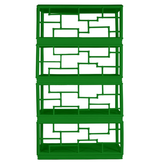 David Francis Tibet Etagere - Bright Green For Sale - Image 4 of 7