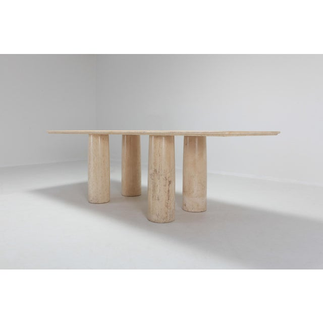 Travertine Dining Table by Mario Bellini 'Il Colonnato' For Sale - Image 6 of 11