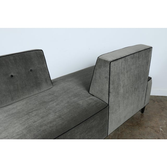 Textile Modern Mohair Double Sided Sofa For Sale - Image 7 of 11