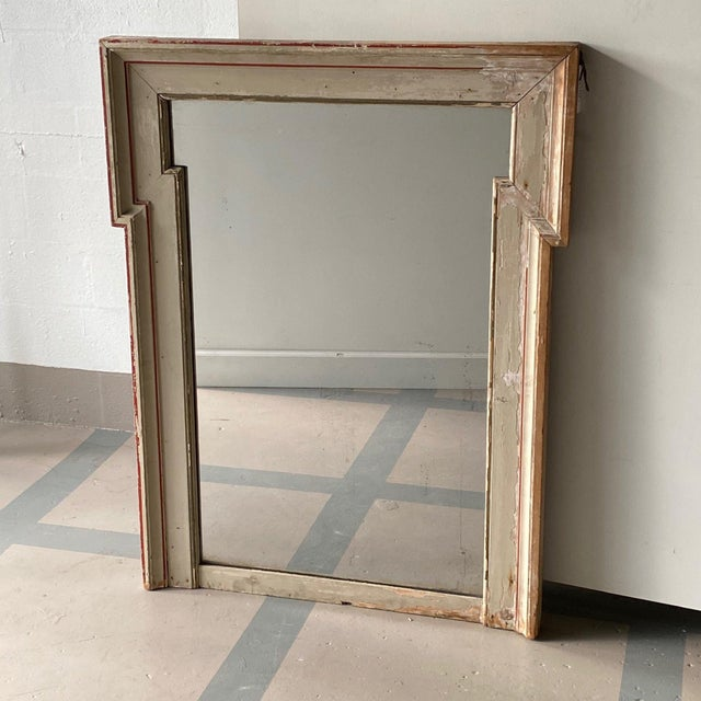 Mid 19th Century French Painted Mirror With Red Trim For Sale In West Palm - Image 6 of 6