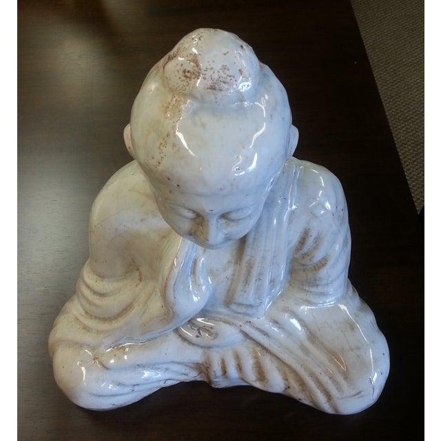 Sitting Buddha Statue With Ivory Finish - Image 7 of 7