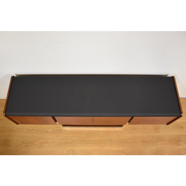 Brown Ste-Marie Rosewood & Chrome Credenza For Sale - Image 8 of 11