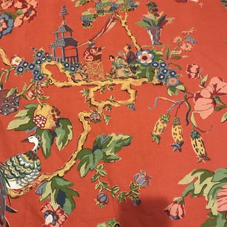 "Bassett McNab Co ""Oriental Sage"" Fabric - 10 Yards Chinoiserie For Sale"