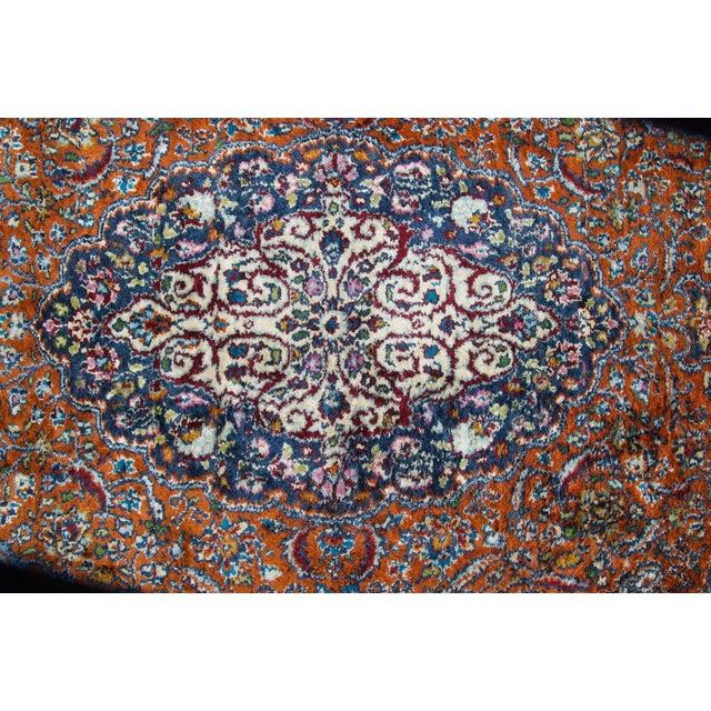 Silk Vintage Silk & Wool Kashmir Prayer Rug-3'x5' For Sale - Image 7 of 9