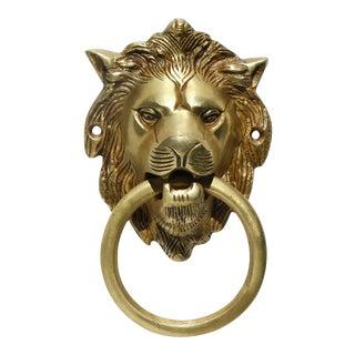 Brass Lion's Head Door Knocker For Sale