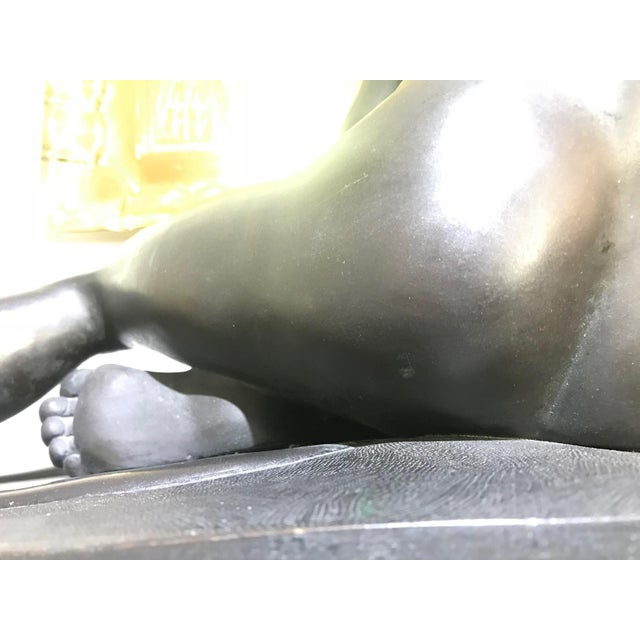 """Gold 19th Century """"The Dying Gaul"""" Bronze Statue Signed M Amadoi N 'Napoli' For Sale - Image 8 of 13"""