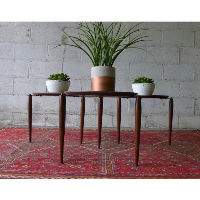Mid Century Modern Stackable Plant Stands, Set/3 For Sale - Image 5 of 8