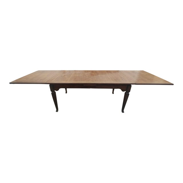Henredon Furniture Acquisitions European Refectory Walnut Dining Table For Sale