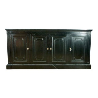 Vintage Black Wood Sideboard