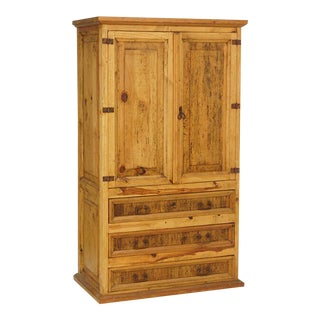 1940s Rustic Pecky Cypress Cabinet For Sale