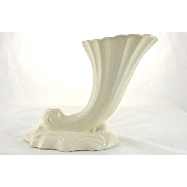 Ivory Cornucopia Vase Chairish