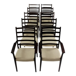 Svegards Markaryd Mid-Century Modern Rosewood Dining Chairs - Set of 10 For Sale