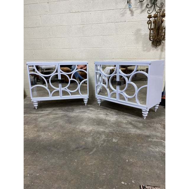 Vintage Patagonia Home White Lacquered Chests - a Pair For Sale - Image 10 of 10