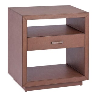 Astele Carmen Leather Side Table For Sale
